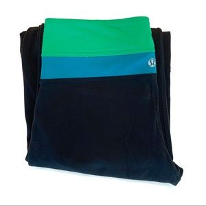 Lululemon Groove Pant With Green & Blue Waistband